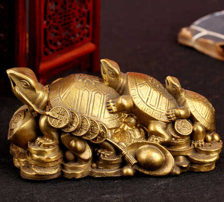 SCY  330+++The three generation of copper bronze turtle  ornaments jewelry gift Home Furnishing old bronze turtle l