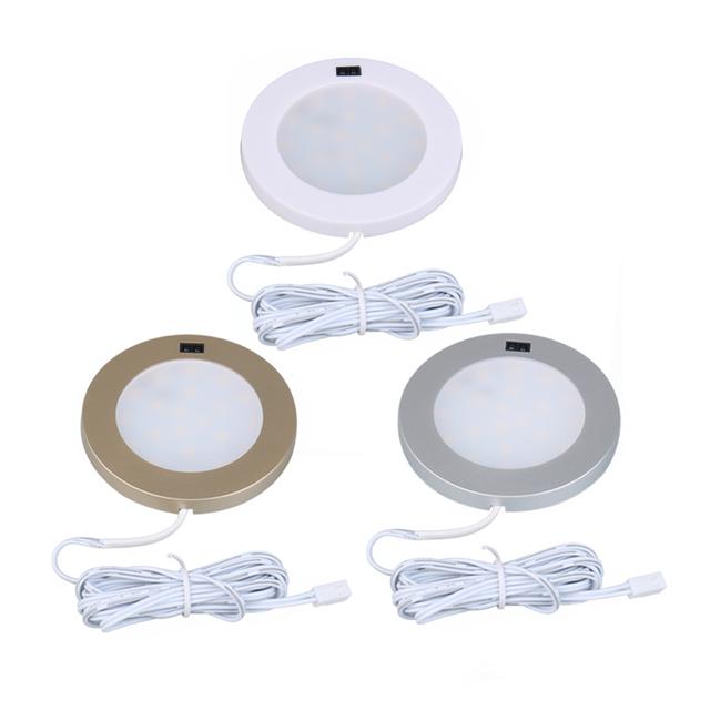 LED Cabinet Light 12V Motion Sensor IR Closet Lamp Under Cupboard Kitchen Night Lamps Puck Counter Wardrobe Round Shelf lighting