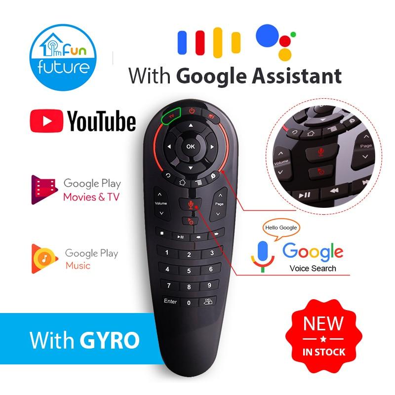 G30 ar mouse voz controle remoto 2.4g sem fio microfone giroscópio ir aprendizagem para android tv caixa relé rf remoto universal