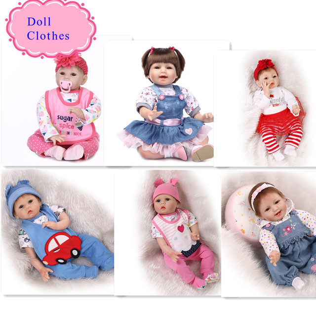 15 Different Styles Good Price 55m 22 Inch Silicone Reborn Baby Doll Clothes Hot Sale Dolls Accessories For DIY Doll Clothes