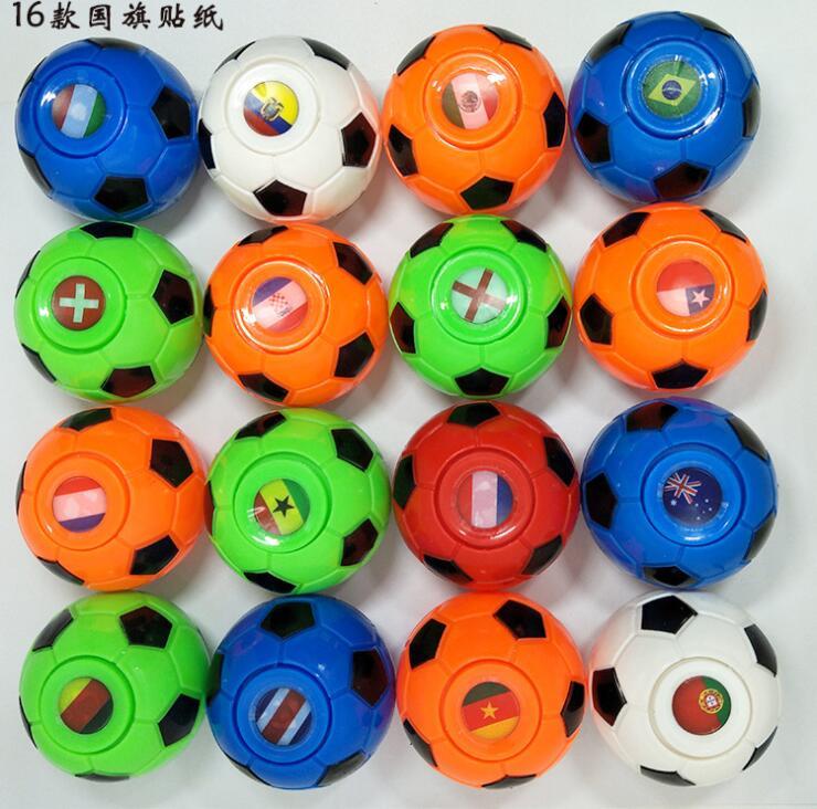 Купить с кэшбэком 2019 50mm D Fidget Football Fingertips Finger Gyro Spinner Stress Relief Toys Footballs Top Game Gifts For Children Christmas