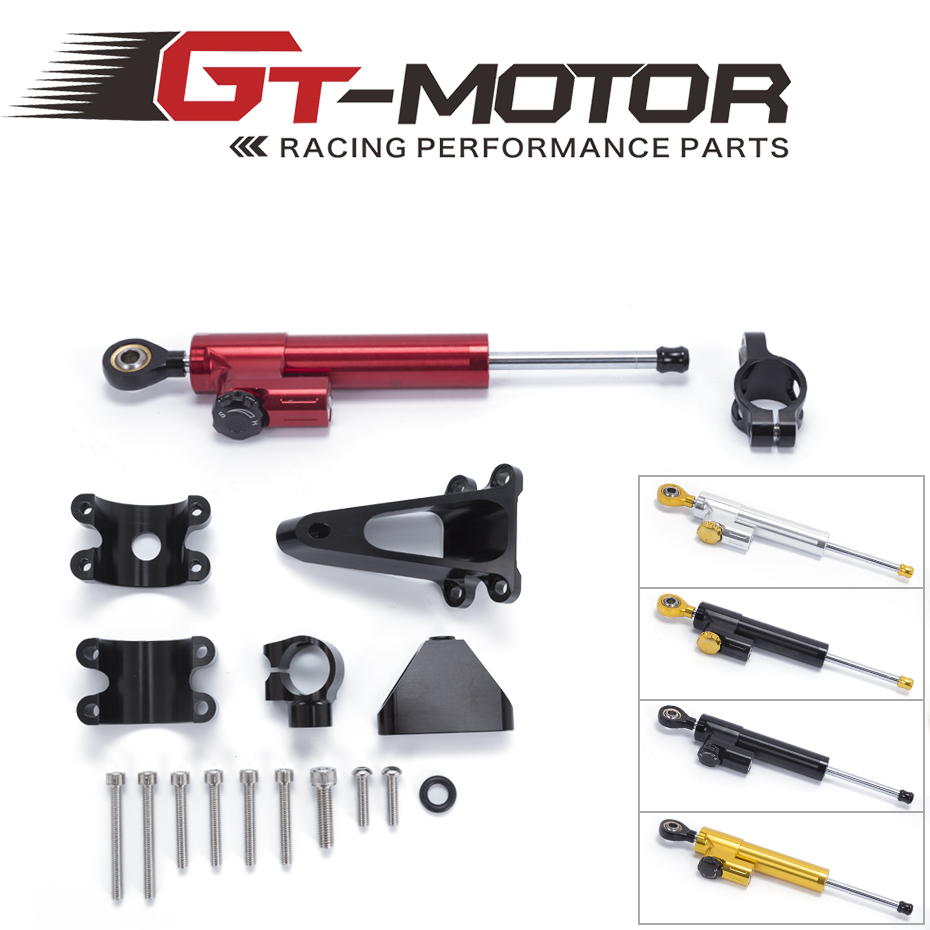 GT Motor - FREE SHIPPING For HONDA CBR600 F4I 2001 2002 2003-2006 2007 Motorcycle Aluminium Steering Stabilizer Damper Mounting wl v911 black remoter controller motor battery upgrades accessories for wl v911 parts free shipping