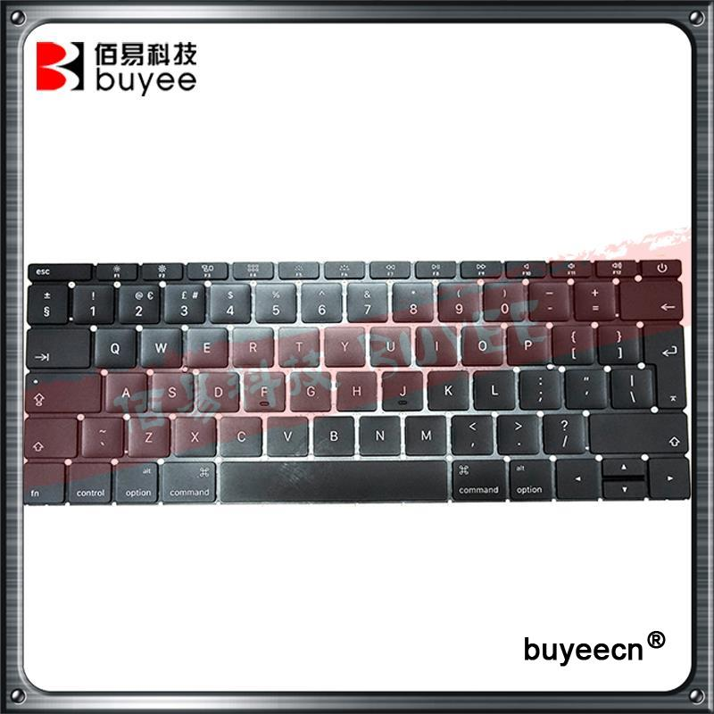 2016 Year Genuine Used A1534 English Keyboards For Macbook Air Retina 12'' A1534 UK Keyboard MF855LL/A MF865LL/A Replacement original new laptop us layout keyboards a1708 for macbook retina pro 13 inch english version keyboard 2016 year replacement