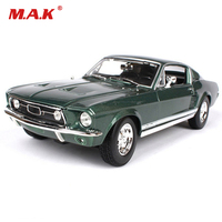 Kid Car Model Toys 1/18 Scale 1967 GTA Fastback Muscle Models Black/Green Children Gifts For Boys Collections