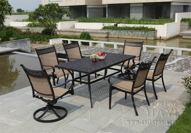 5piece cast aluminum patio furniture outdoor furniture transport by seachina mainland