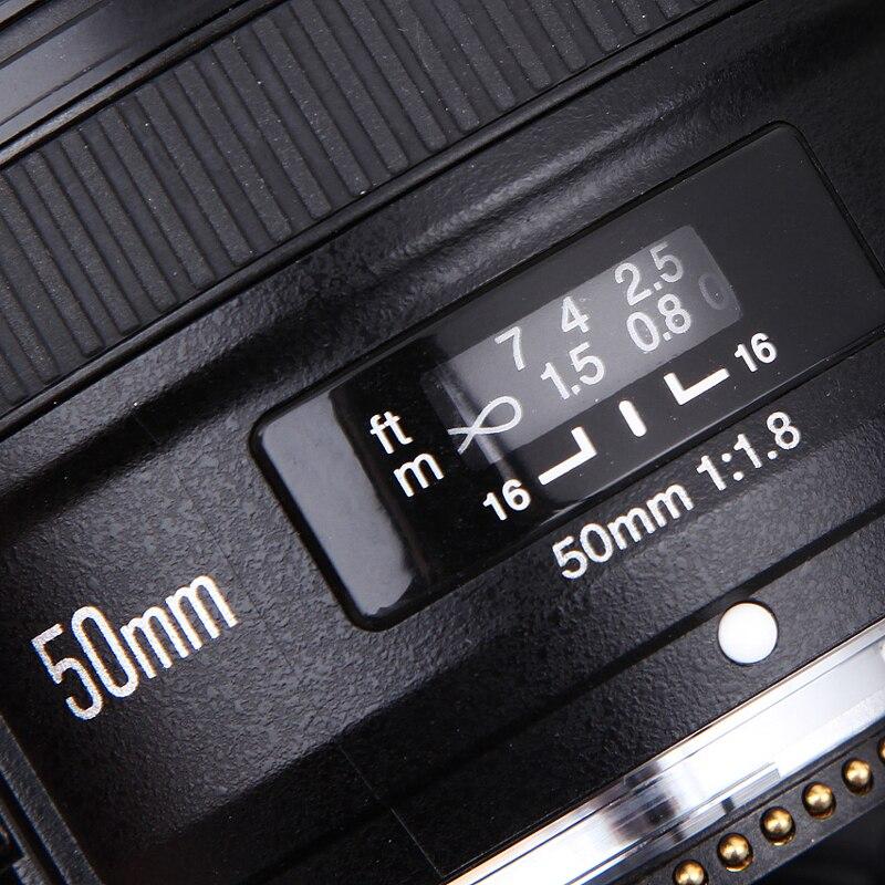 YONGNUO 50mm F1.8 Standard Prime Camera Lens YN50mm Messa A Fuoco Automatica di Grandi Dimensioni apertura per Nikon D3300 DSLR per Canon EOS 60D 70D 5D2 5D3