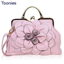 Luxury Handbags Women Bags Designer Sweet Flowers and Plants Lady s Tote Bag Embossing Leather Single