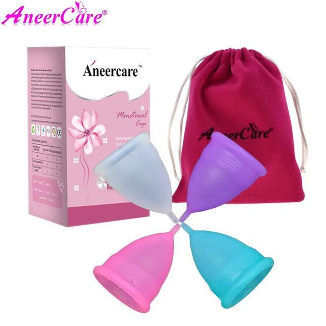 1set menstrual cup monthly period cup coppetta mestruale menstruatie cup coupe menstruelle kubek menstruacyjny copita aneercare 2