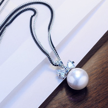 Lan Ting adorn the gorgeous imitation of the European and American pearl sweater chain necklace necklace of Japanese and Korean