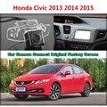 Для Honda Civic 2013 2014 2015 Автомобиля Камера Подключена Оригинальный Экран Монитора и Заднего Вида Резервного Копирования Камеры Оригинальный автомобиля экрана
