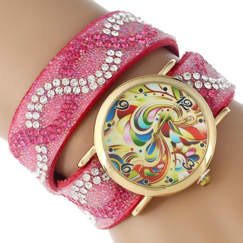 Gnova Platinum Ethnic Retro Strap Rhinestone Butterfly Bracelet Watch Women PU leather wristwatch Fashion Quartz Clock A848 retro rhinestone rattan butterfly bracelet with ring