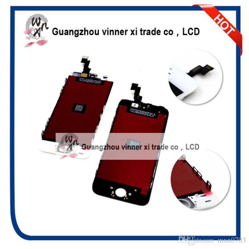Envío libre de DHL 10 unids iPhone5 LCD con marco de Reparación de piezas Para 5