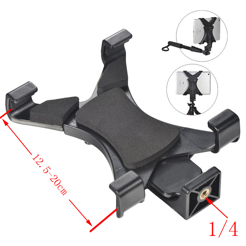 Tablet Tripod Mount Clamp Tripod Mount Holder Bracket Clip For Iphone Samsung Mobile Phone Pad Back Cover