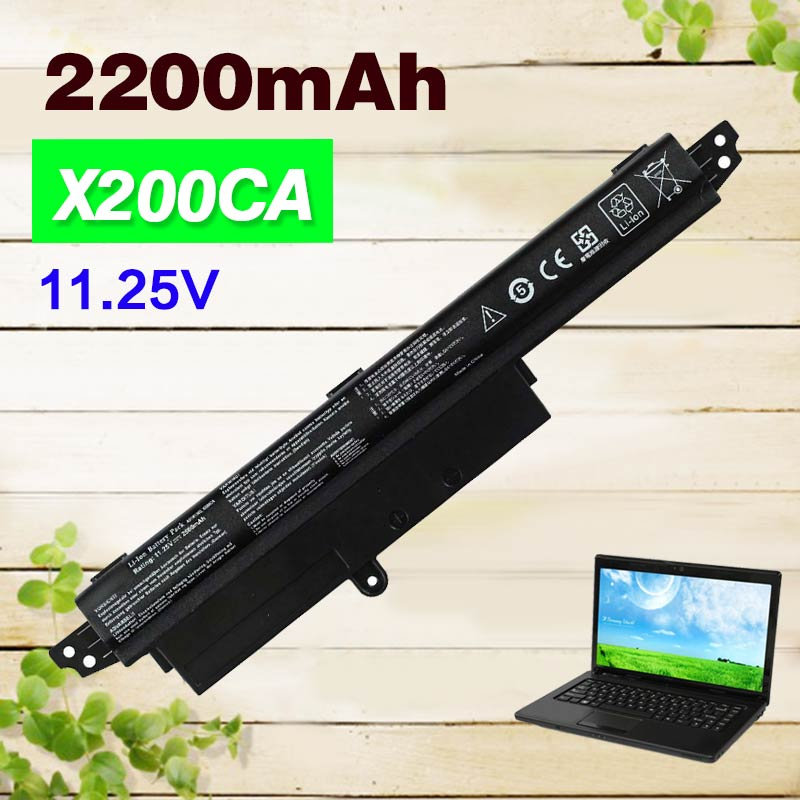 "2200 mAh batteria del computer portatile per ASUS VIVOBOOK A31N1302 X200CA F200CA 11.6 ""per NOTEBOOK Serie compatibile con A31N1302 A31LM9H"