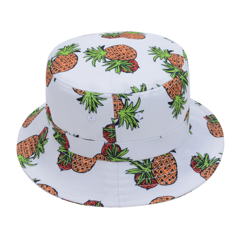 Fashion Black White Pineapple Printed Bucket Hats Women Sunbonnet Chapeau  Touca Casual Fisherman Cap Casquette Goldtop-in Bucket Hats from Apparel ... 28cb739f67da