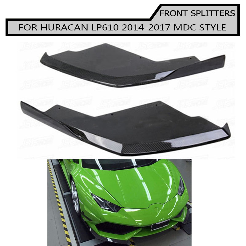 Body Kits Front Bumper Lip Splitters Apron Carbon Fiber Case For Lamborghini Huracan Lp600 Lp610 Coupe 2014-2017 D Style Car Styling Automobiles & Motorcycles