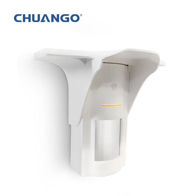 chuangkesafe 433Mhz CHUANGO Solar-Powered Dual-Tech Motion Detector 433MHz For B11 G5 A11 Alarm system