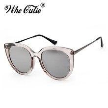 a21d6c96dd WHO CUTIE 2018 Fashion Cat Eye Sunglasses Women Brand Designer Vintage  Black Cateye Sun Glasses Crystal Gray Pink Shades OM373