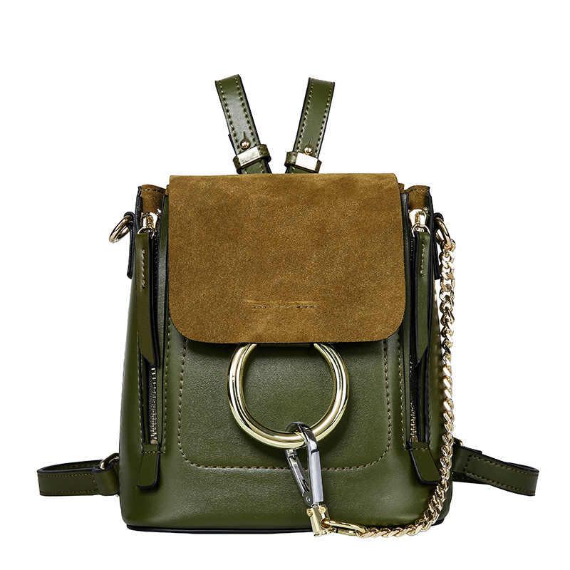 Новое поступление, кожаный рюкзак, женский летний маленький рюкзак, винтажная сумка Harajuku, Высококачественная сумка через плечо, рюкзак с кольцом