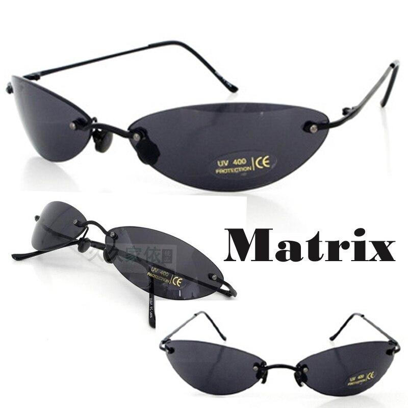 ad6d49c4452dd Filme Matrix Morpheus Óculos De Sol óculos de sol dos homens 13.9g Clássico  Oval óculos