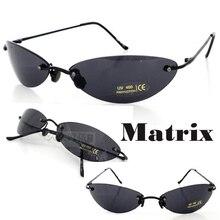 Matrix Morpheus gafas de Sol gafas De sol de Película hombres 13.9g Ultraligero Sin Montura Classic Oval gafas Oculos gafas de sol 2017 Nuevo
