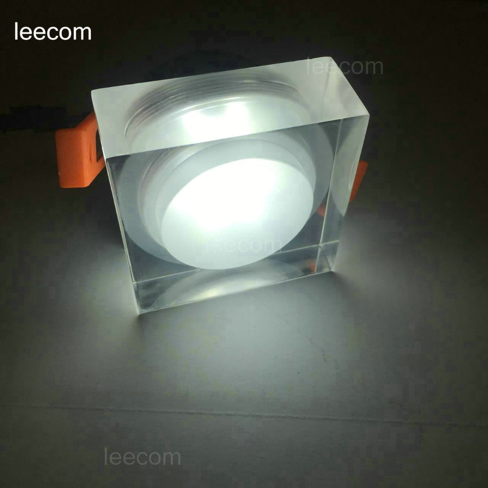 Led Spotlight 5w 7w 1pcs lot Led Roundsquare Down Light Acrylics 220v Recessed Led Retail 5 years Warranty time in Spotlights from Lights Lighting
