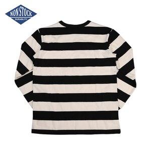 Image 2 - T Shirt à manches longues pour homme, cintré, à rayures, pour moto, NON STOCK