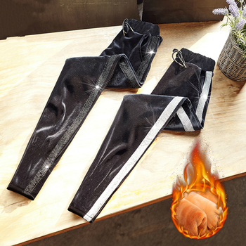 נשים מזדמנים קטיפה הרמון מכנסיים עבה רופפים חמים נשי שרוך ארוך מכנסיים סתיו חורף נשים Pantalon Femme