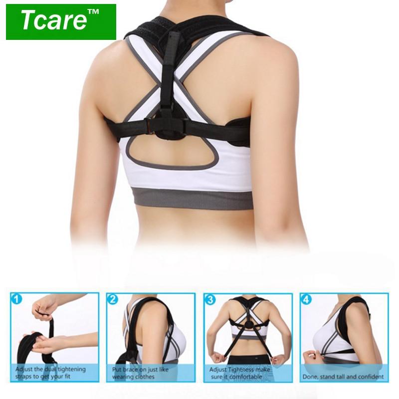 * T Cuidado postura ajustable corsé Protecciones para espalda brace Band cinturón ortopédico chaleco postura Correa correcta para cuidado de la salud