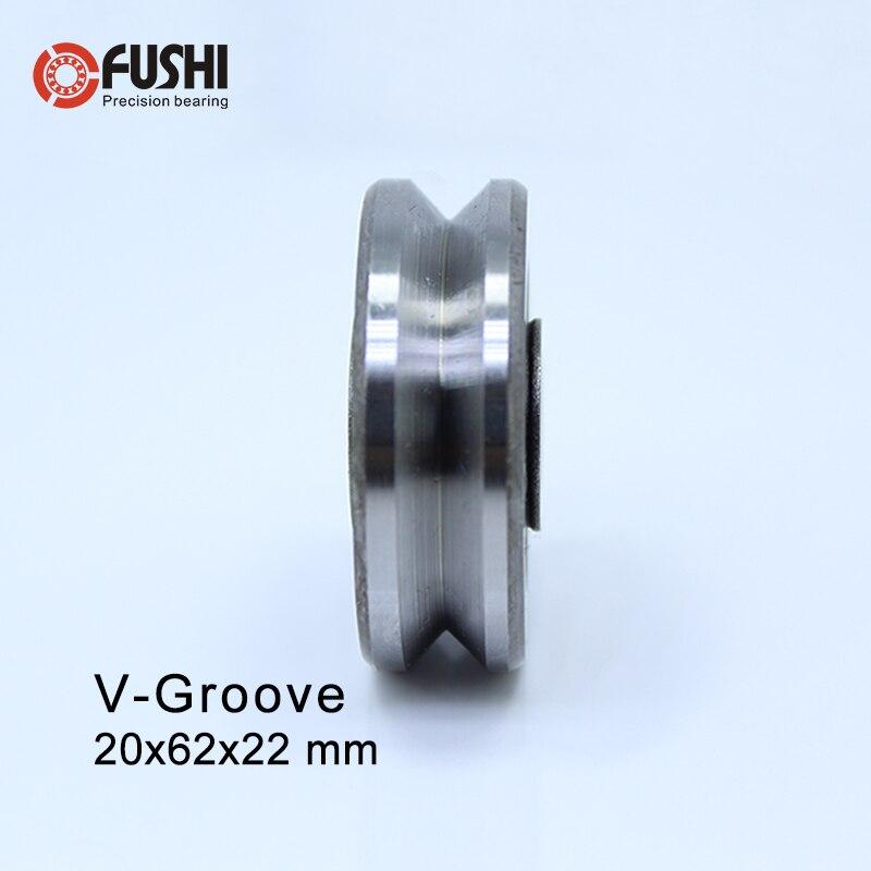 V206222 V Groove Sealed Ball Bearing ( 1PC ) 20*62*22 Mm Pulley Wheel Bearings V6/3 V12/5 Guide Track Rlooer Bearing