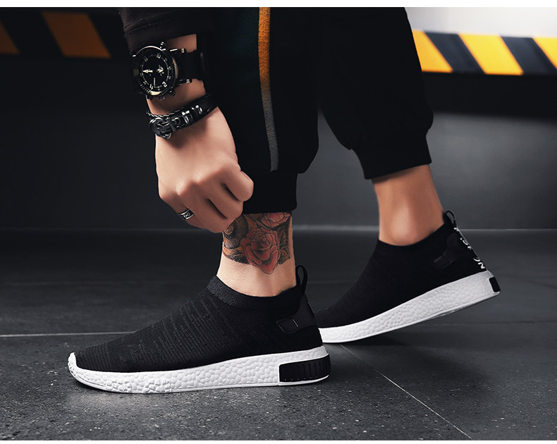 HTB121dUzf5TBuNjSspcq6znGFXaZ Thin Shoes For Summer White Shoes Men Sneakers Teen Shoes Without Lace Trend 2019 New Feel Socks Shoes tenis masculino chaussure