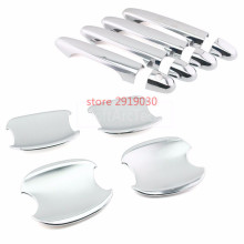 Car styling ABS Chrome Door Handle Catch Cover Trims + Bowl FOR HONDA Civic 2012-2013