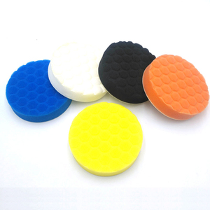 Image 5 - 5 x Sponge Polishing Pad Car Paint Grinding Pads Clean Brush Tools for Car Polisher 75 100 125 150 180mm with Adhesive Pad