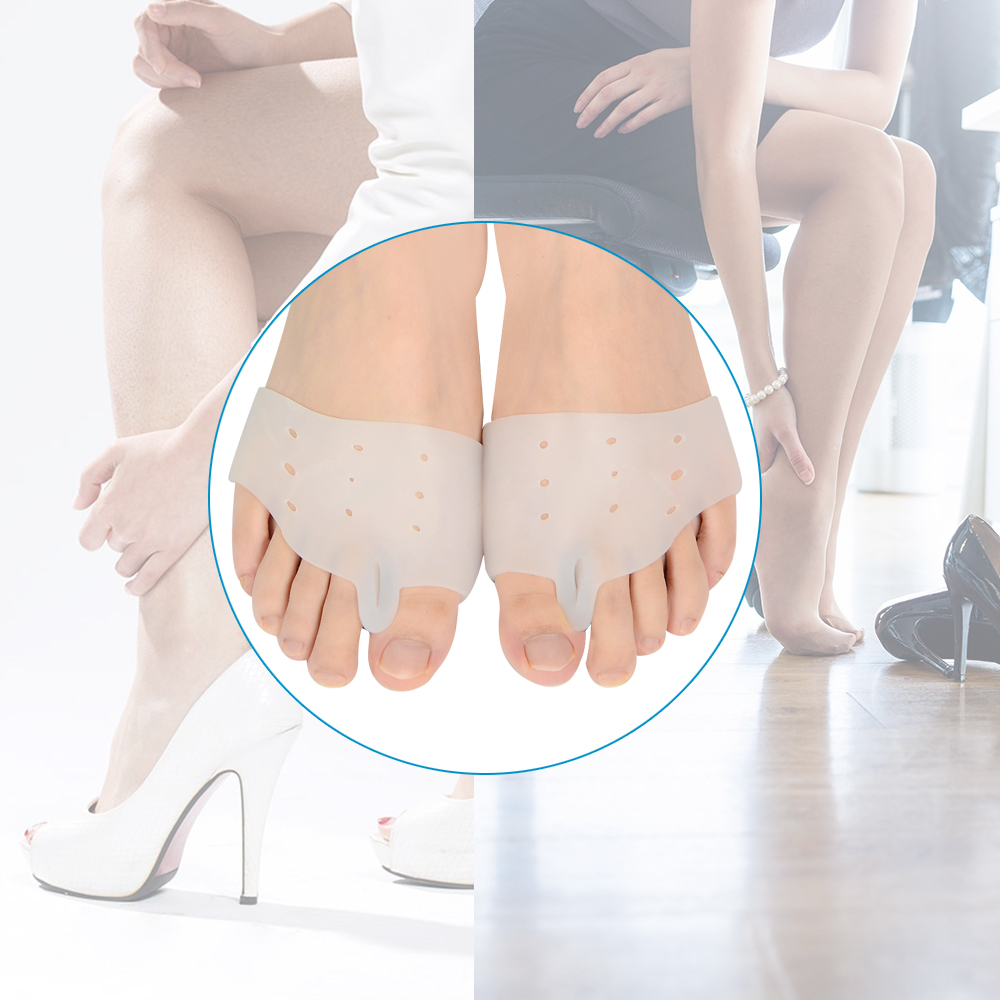 Demine Gel Silicone Hallux Valgus Orthotic Insoles Toe Separator Toe Correction Cushion Forefoot Heel Apply to Bunonia Inserts in Inserts Cushions from Shoes