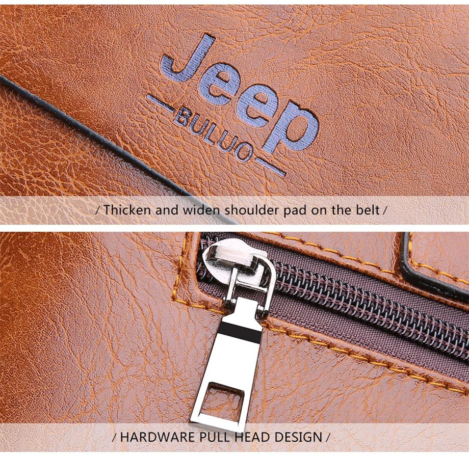 HTB121dlbwFY.1VjSZFqq6ydbXXa0 Famous Designer JEEP BULUO Brands Men Business Briefcase PU Leather Shoulder Bags For 13 Inch Laptop Bag big Travel Handbag 6013