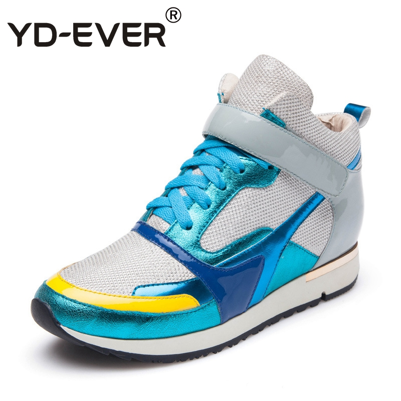 36aab5f40e1 6 Plataforma Altura Aumento Cuero Otoño Botas De Zapatos Casual Cielo  Mujeres Genuino Yd Zapatillas Cuña ...