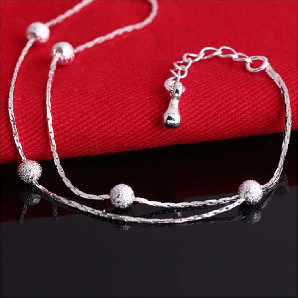 Jiayiqi 2017 Hot Sale Silver color Fashion Bracelet Bead Bracelets for Women Silver color Friendship Bracelets Fine Jewelry 2