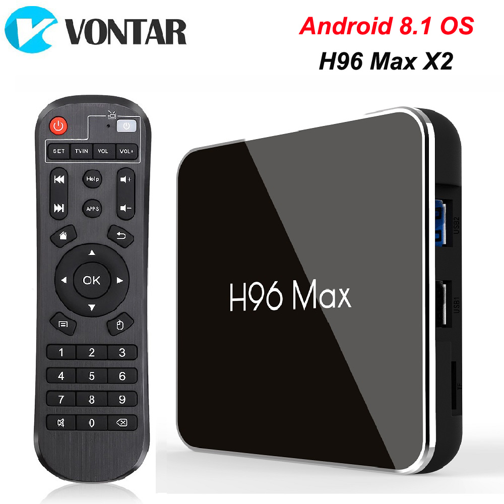 H96 MAX X2 Android TV Box 9.0 4GB 64GB S905X2 1080P H.265 4K Google Store Netflix Youtube H96MAX 2G16G Smart TV box