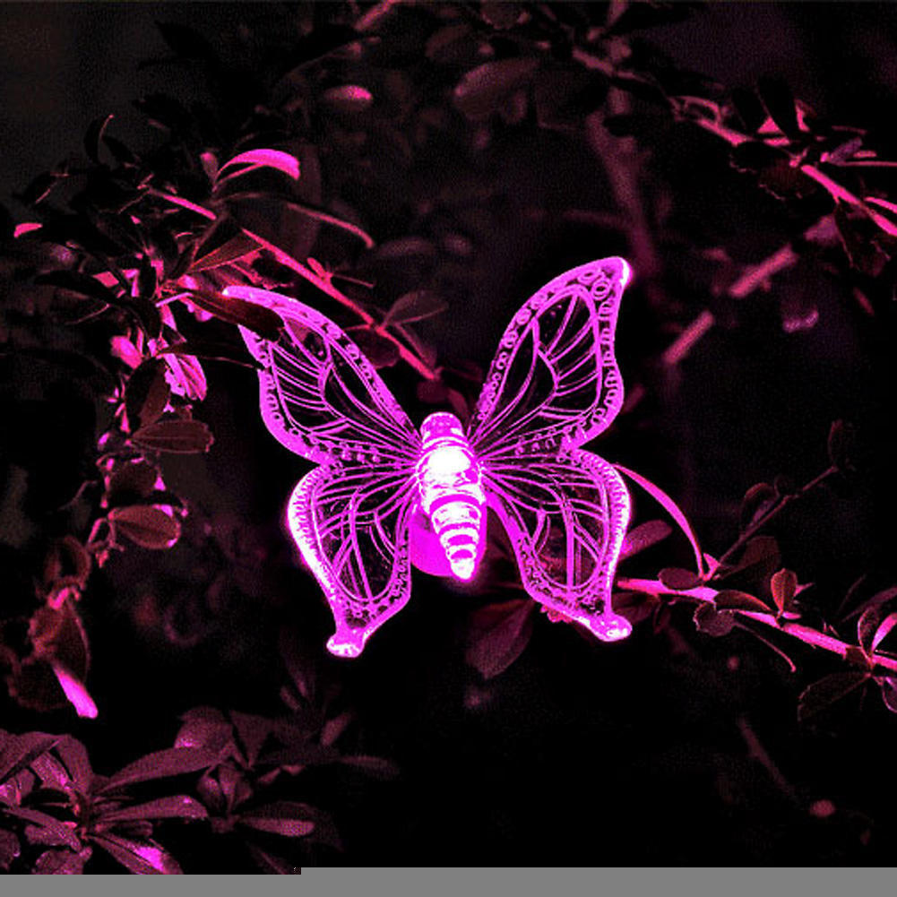 Animal Solar LED Path Light Butterfly Dragonfly Bird Shape Decorative Lamp  Party Outdoor Garden Lawn Landscape Decor