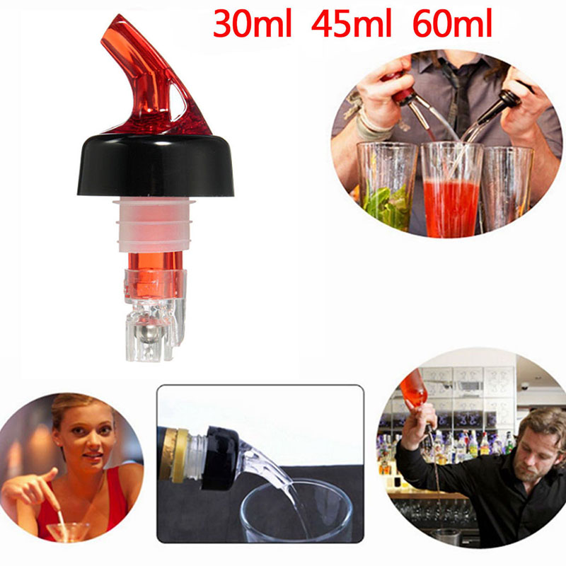Portable Quick Shot Measure Measurement Pourer Drinks Wine Cocktail Dispenser Home Tools Bottle Nozzle Stoppers 45/60ml