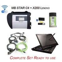 12/2017 Sistema de Diagnosis de la Estrella C4 MB SD CONECTA con Vediamo DTS Xentry MB STAR C4 Herramienta de Diagnóstico con X200T laptop Listo para uso