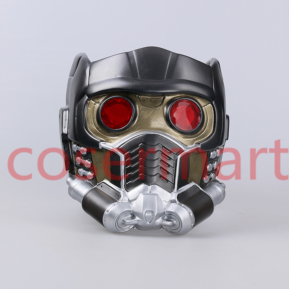 Cos Guardians of the Galaxy Helmet Cosplay Peter Quill Helmet PVC with Led Light Star Lord Helmet Halloween Party Mask Adults (2)