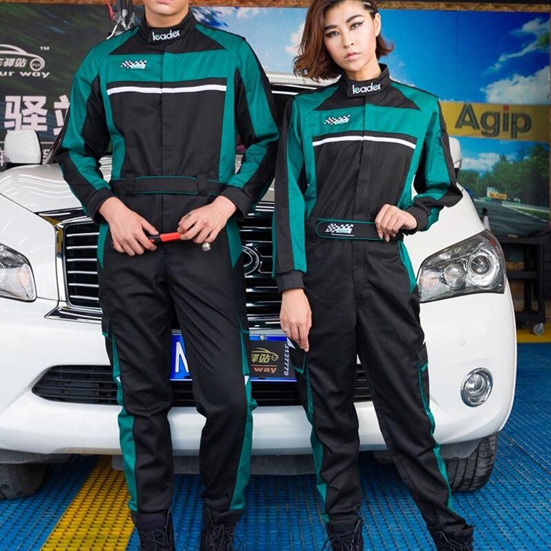 1 Set Herfst Nieuwe Siamese Racing Pakken Uniformen Auto Schoonheid Onderhoud Auto Gemodificeerde Ketting Tooling Beschermende Kleding Verfrissing