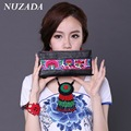 Brands NUZADA Women Ladies Bag Wallets clutch bags Card Holders  Coin Purse Money Bag Card Pack real Genuine Leather xqb-008