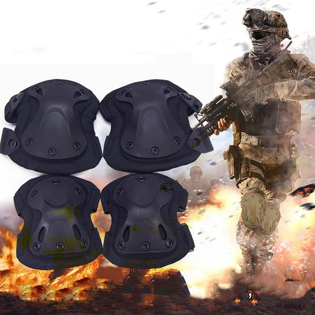 Airsoft Military Tactical Protective Knee Pad and Elbow Kneeling Protector Pads Gear Sports Hunting Skate Scooter Kneepads