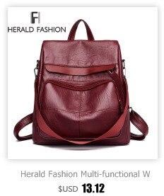 HTB121esXffsK1RjSszgq6yXzpXan Herald Fashion Backpack Women Leisure Back Pack Korean Ladies Knapsack Casual Travel Bags for School Teenage Girls Bagpack