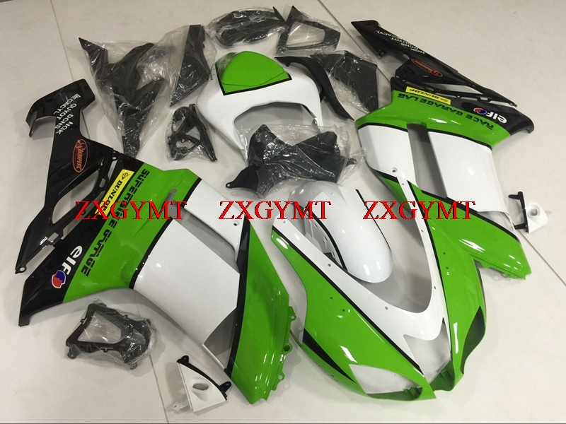 Bodywork for 636 Zx-6r 2007 - 2008 Bodywork Zx6r 2008 Green White Black  Plastic Fairings Ninja Zx-6r 2008Bodywork for 636 Zx-6r 2007 - 2008 Bodywork Zx6r 2008 Green White Black  Plastic Fairings Ninja Zx-6r 2008