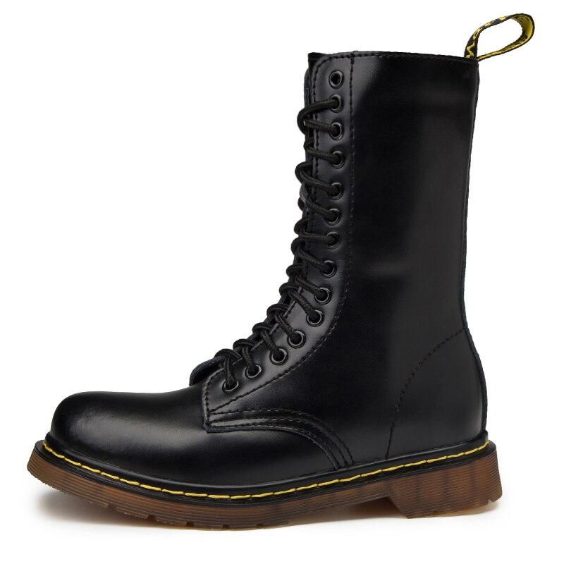marrón De Hombres rojo Negro Extra Parejas Grande Zapatos Martin Los Botas wxqzXa07R