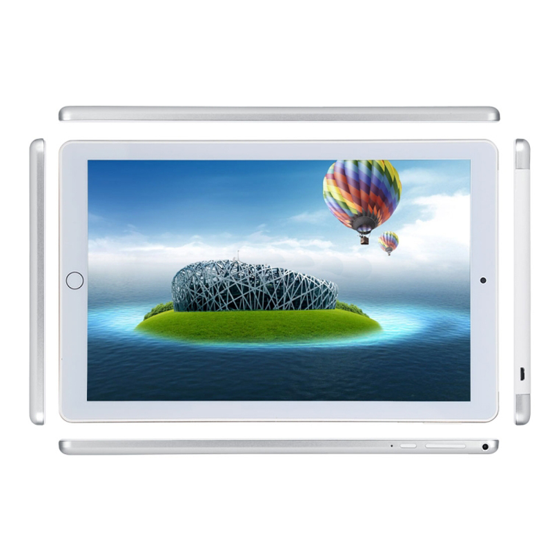 3G Phone Call Tablet PC 10.1 Inch 4GB+64GB Android 7.0 Octa Core 1.5GHz Dual SIM Support GPS OTG WiFi Bluetooth (Silver)
