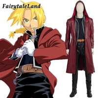 Fullmetal Alchemist Edward Elric Cosplay Costume adult men Halloween costumes Hot anime cosplay suit custom made